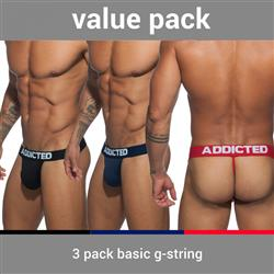 Addicted 3-Pack Basic G-String