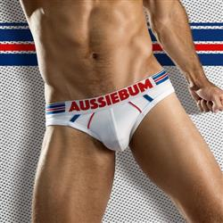 aussieBum GridFit Brief white