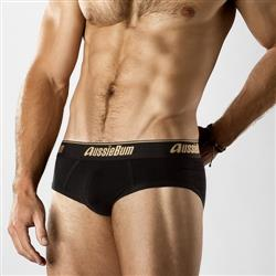 aussieBum CottonSoft Brief onyx black