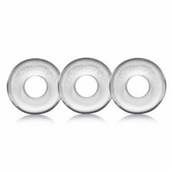 Mister B Oxballs Ringer Cockring Clear 3 pack