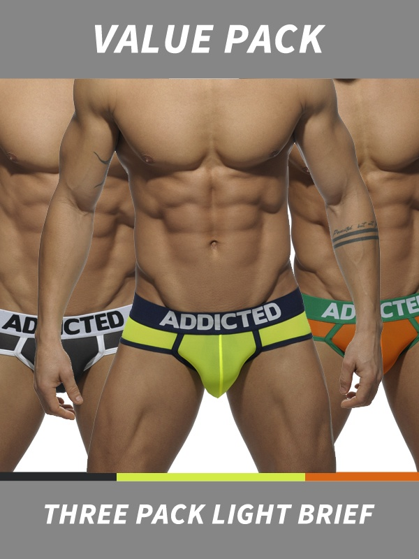 Addicted Three Pack Light Brief