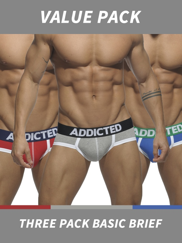 Addicted Three Pack Basic Brief